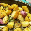 Pommes de terre au four ail et thym
