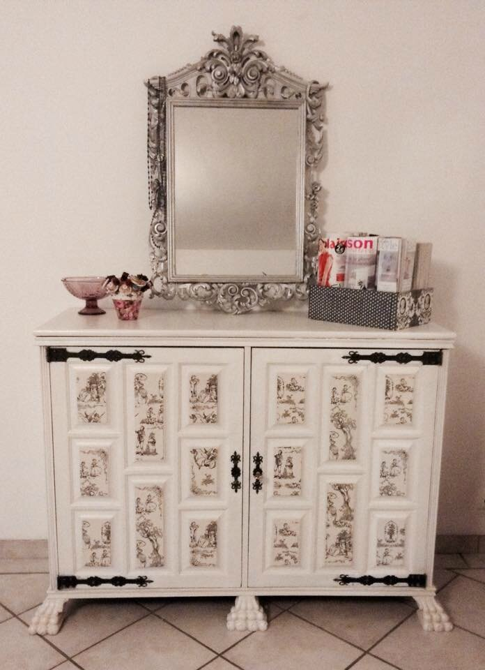 Relooking buffet ancien une f e ma fen tre for Decopatch meuble