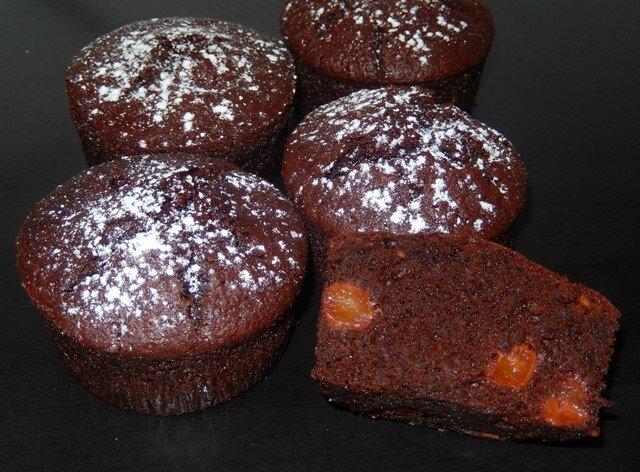 Muffins chocolat betterave