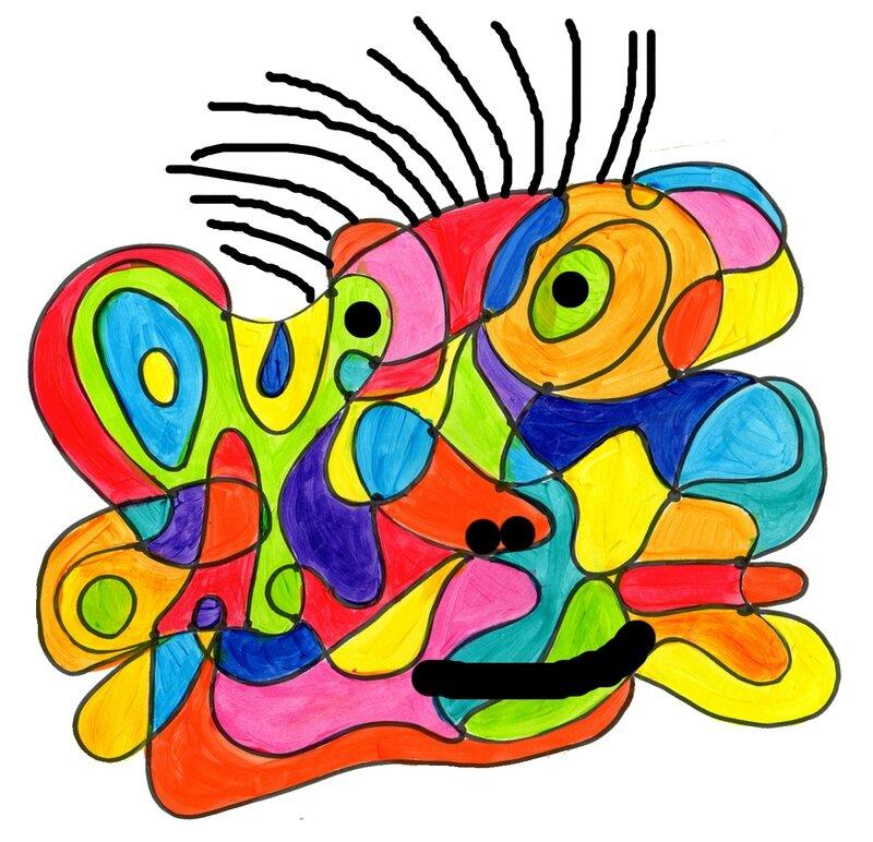 128_Composition abstraite_ De point à point (visage)-001