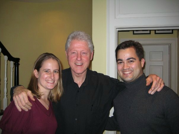Bill Clinton with Bryan Pagliano and young woman
