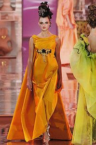 jaune christian-lacroix-haute-couture-spring-2005-orange-gown-profile