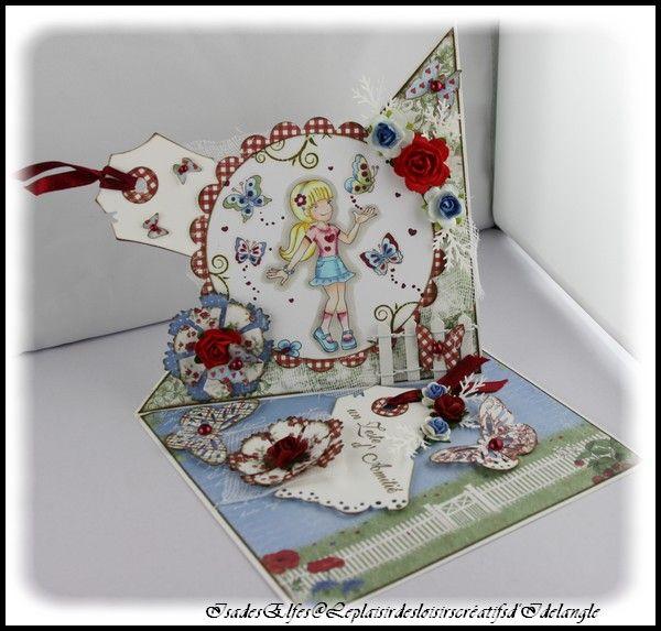 """Carte """"Daisy and butterflies """""""