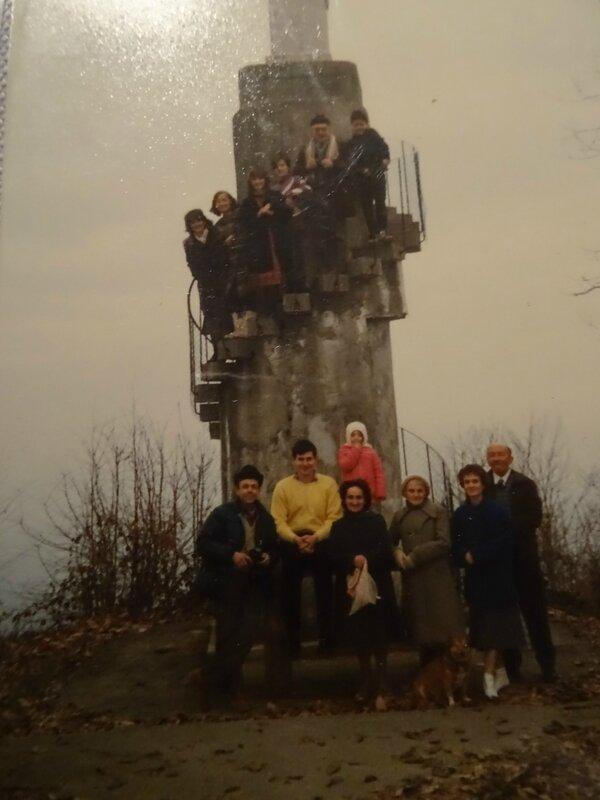 Famille et amis au Sacré Cœur en 90.