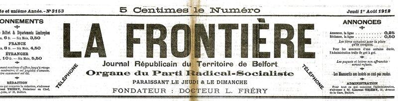 1912 08 01 A La Frontière