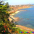 Photo de dellys vue de talaoualdoun ansem et chanteau fort