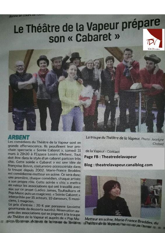 Article Voix de l'Ain - 03-2018 Cabaret