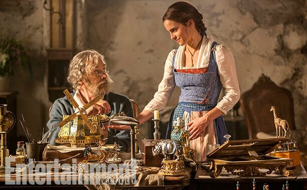 Kevin Kline and Emma Watson_Beauty & The Beast movie