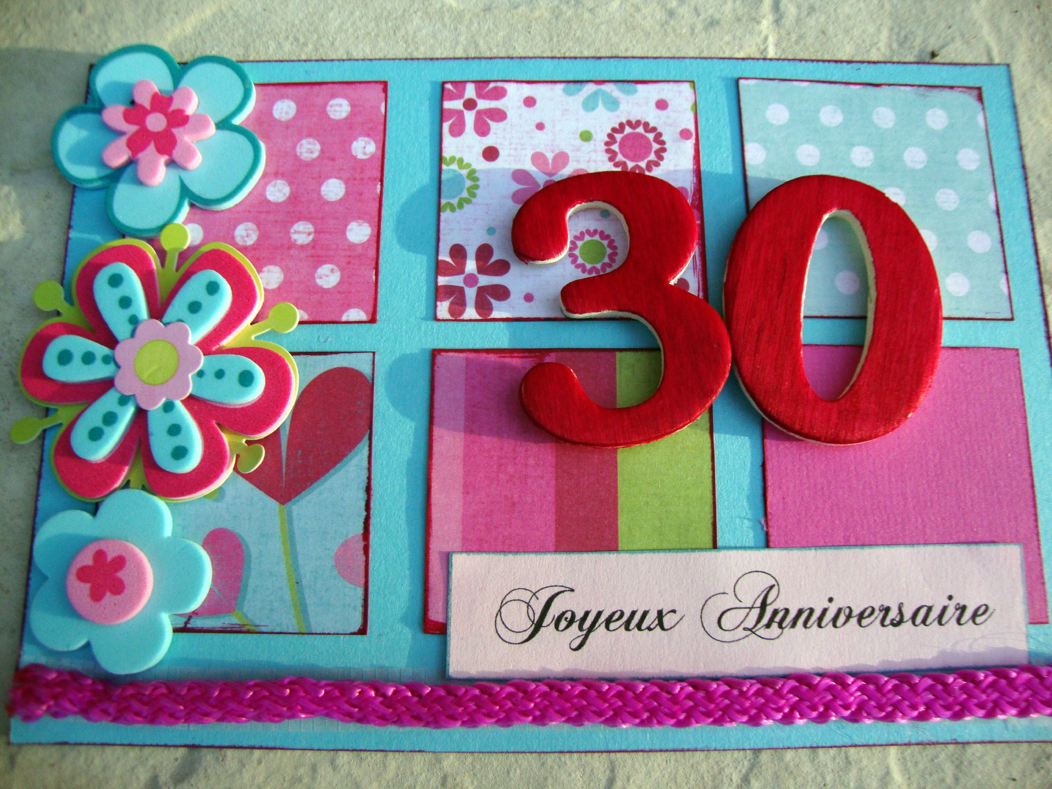 scrapbooking anniversaire 30 ans. Black Bedroom Furniture Sets. Home Design Ideas