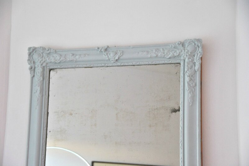 The mirror i page blanche i for Miroir cheminee