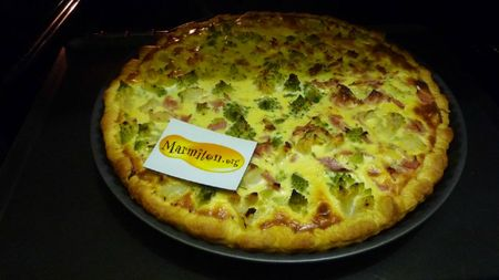 Quiche feuillletee jambon romanesco