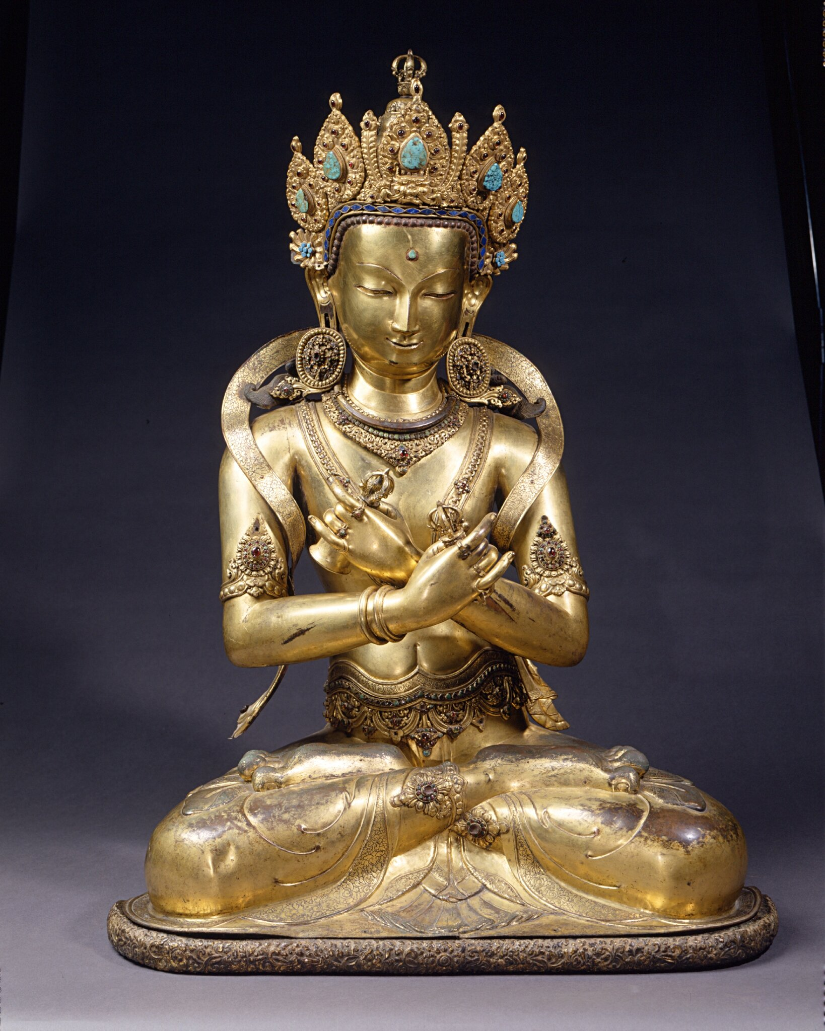 Very rare sculpture of Buddha on sale by ROSSI & ROSSI at TEFAF Maastricht 2015