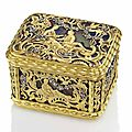 A german jewelled gold and hardstone snuff-box, attributed to heinrich taddel (1714-1794), dresden, circa 1740