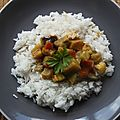 Korma aux aubergines