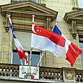 Tapis rouge pour le président de singapour !