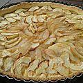 Tarte aux pommes et aux poires