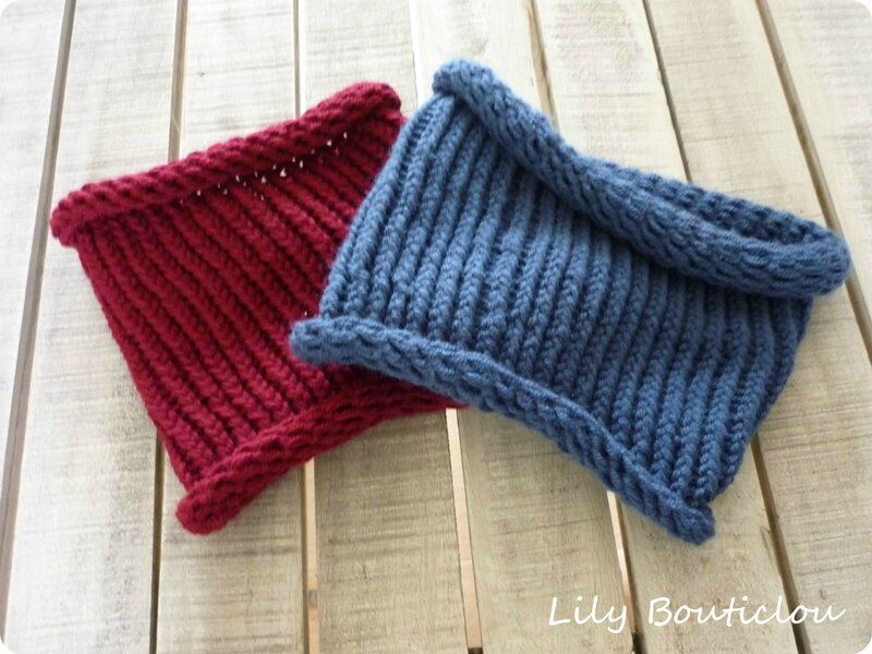 Top Snood(s) fastoche au tricotin géant - Lily Bouticlou MU74