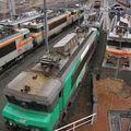Dans le dépôt locomotives de Bordeaux, BB 7200