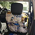 En route pour les vacances (suite) : organiseur de voiture batman