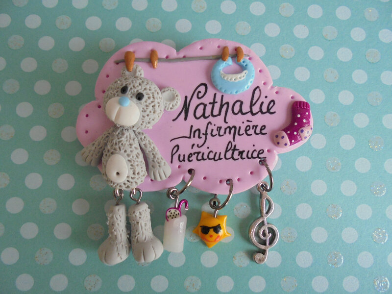 badge nounours peluche