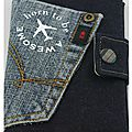 protège_passeport en denim