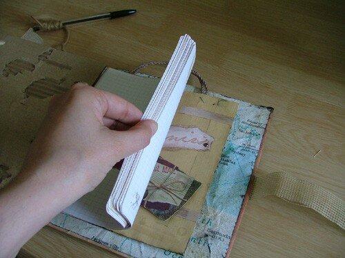 Livre d'or : Feuille et pochette de fin (pour mettre des souvenirs)