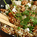SALADE BOULGOUR, QUINOA, FETA, NOIX