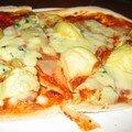 Pizza artichauts bleu et poire