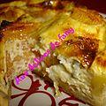 Tartelettes au kaki persimon et a la fourme d'ambert