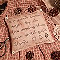 SEWING THEME: Mary and Laura stayed by the fire (Flat pillow and plump pillow) + Ohio Star MINI Pillow Pattern + MINI Nine quilt patch Pattern