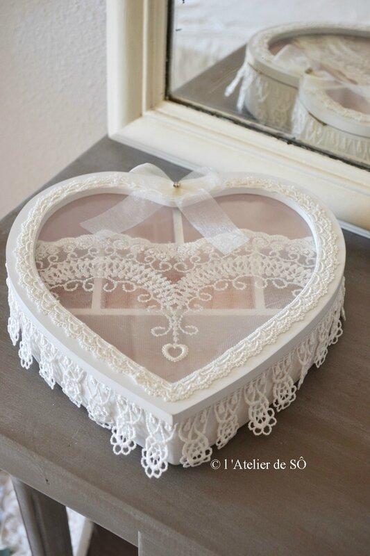 boite cœur shabby - 1