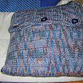 Coussins au tricot