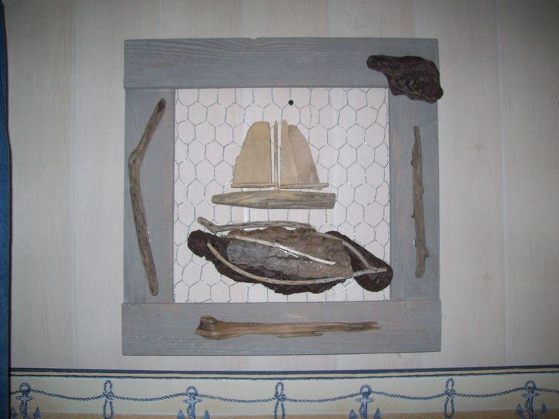 Cadre decoration bois flotte thierry doyen fabricant de - Cadre en bois flotte decoration ...