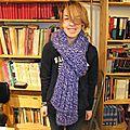 Grosse écharpe violet