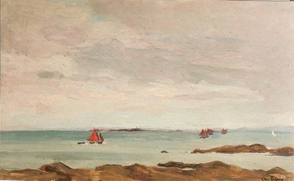 Roscoff_voiliers__Bretagne____31x50_cms__1934_