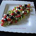 Salade fraicheur, pastèque, feta, etc…