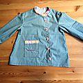 Dans la collection des blouses d'écoliers, je demande... la première bouse de petite section de jane !