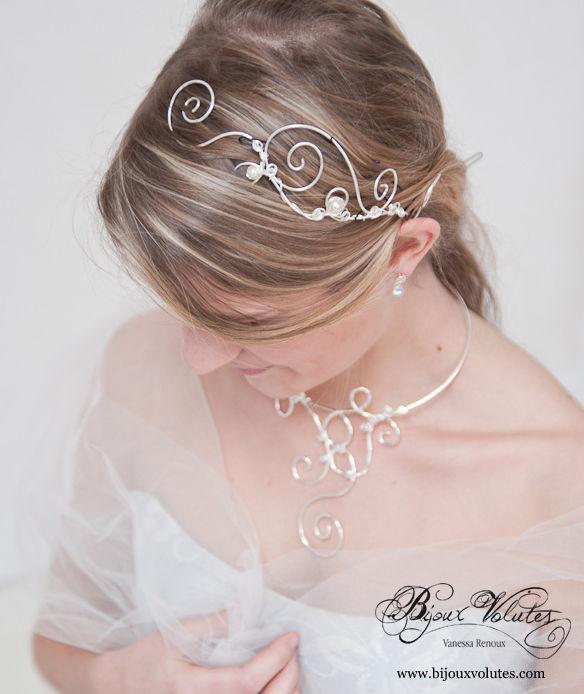 coiffures de mariage et accessoires cheveux mariage page 3 bijoux volutes mariage. Black Bedroom Furniture Sets. Home Design Ideas