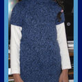 robe-pull bleue