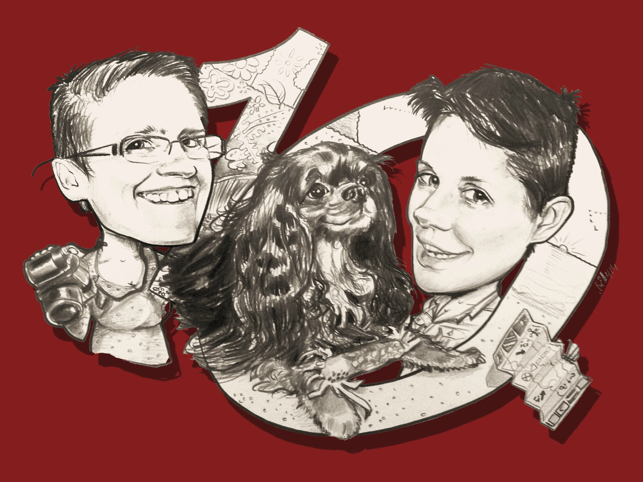 Caricaturiste betty caricatures page 8 caricaturiste betty caricatures - Cadeau 10 ans de mariage ...