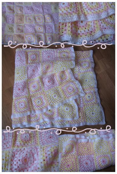 Plaid crochet style vintage