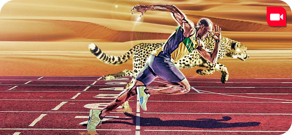 la course contre Usain Bolt