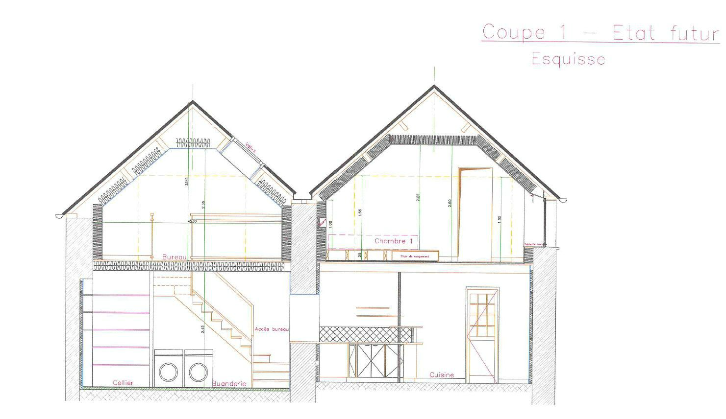R novation d 39 une maison r alisation des plans plan b for Amnagement d une maison
