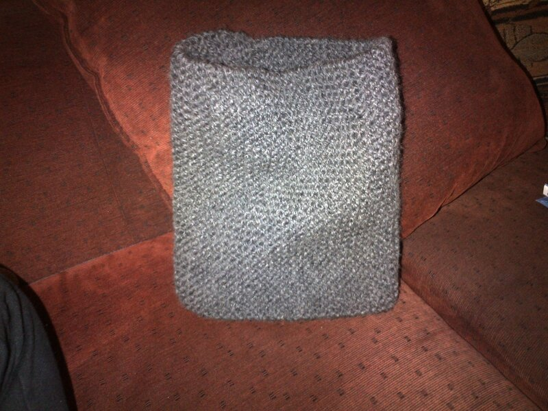 snood pt mousse gris ag6