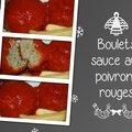 Boulets sauce aux poivrons grillés