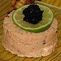 Rillettes saumon fumé/ saumon cuit
