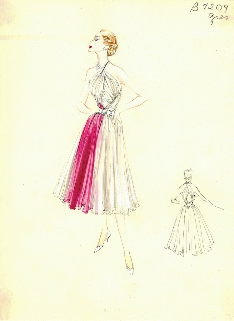 Bergdorf Goodman Archives. Coctail & Evening Dresses: Madame Grès