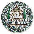 Dish with a representation of a garden, turkey, iznik, circa 1575 –1580