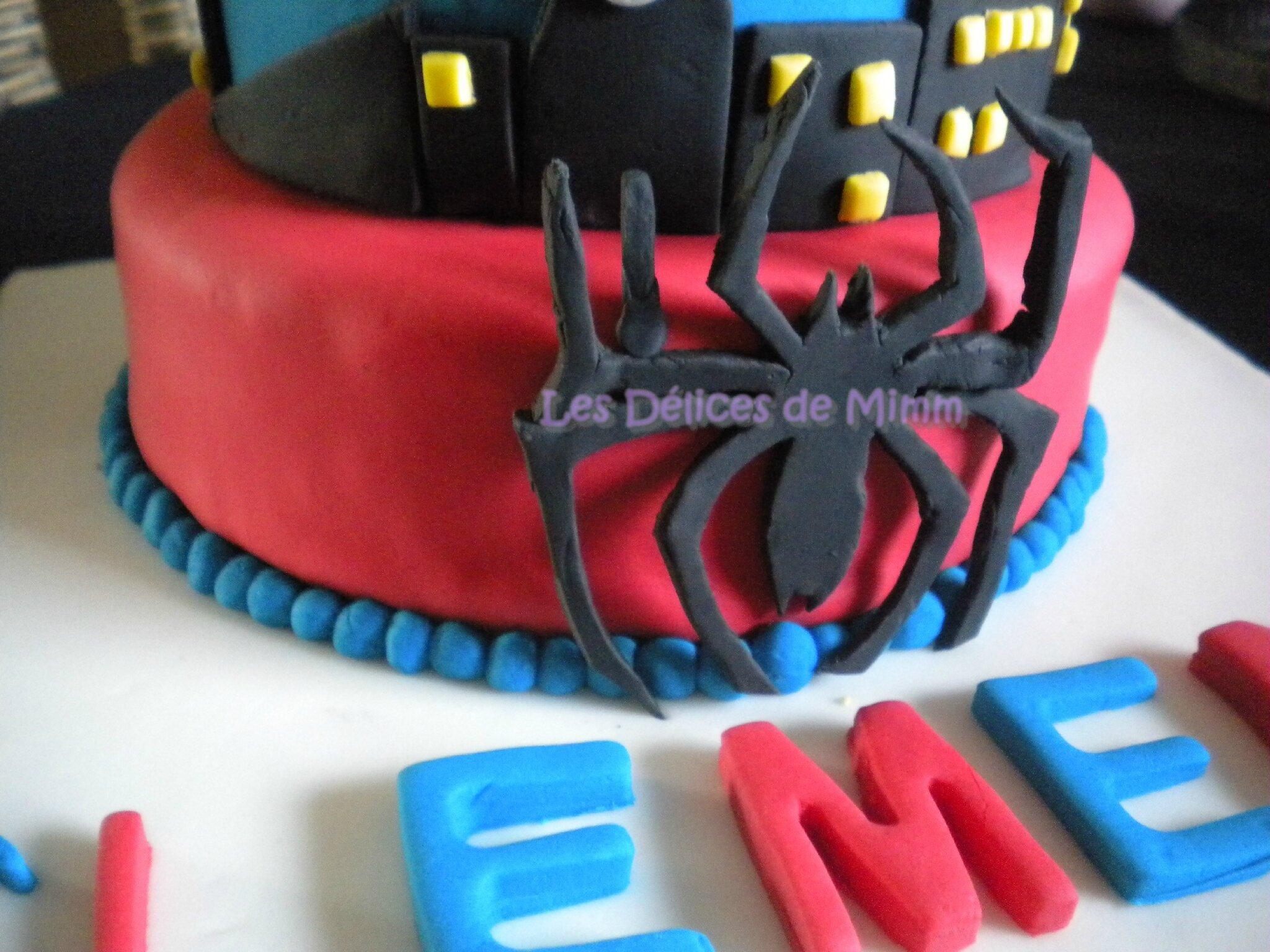Fabuleux Gâteau Spider-man (pâte à sucre) - Les Délices de Mimm DB29