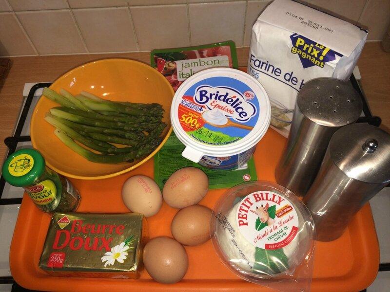 Tarte asperges chèvre (1)